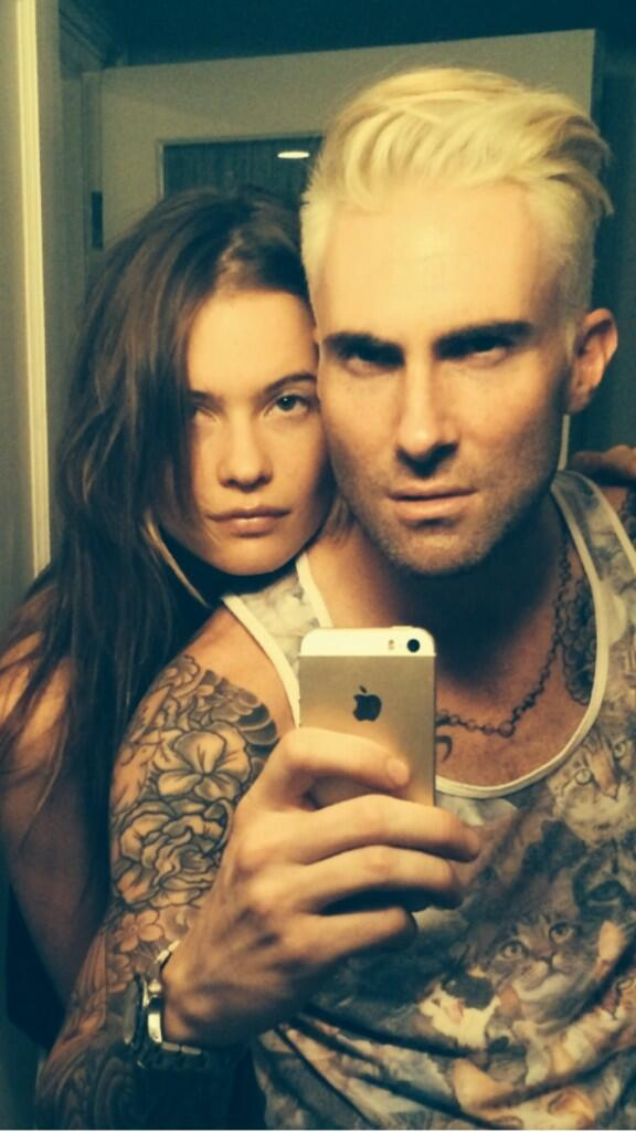 Adam Levine Shows Off New Platinum Blonde Hair Color