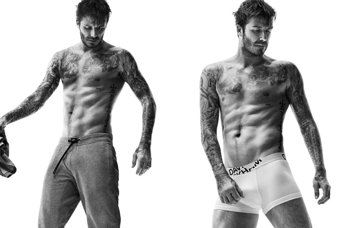 David Beckham Works It For H&M Bodywear Autumn 2014 Campaign & Lookbook